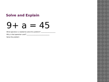 One Step Linear Equation Powerpoint Practice