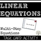 MultiStep Linear Equations Task Card Activity