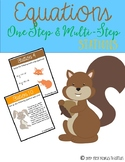 One-Step & Multi-Step Equations {Stations}