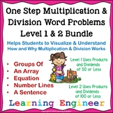 3rd Grade Math Center Multiplication Word Problems One Step Equations