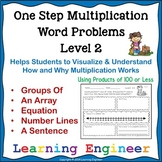 Multiplication Word Problems and Products of 100 or Less
