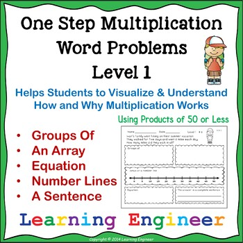 Multiplication Word Problems and One Step Equations (Math