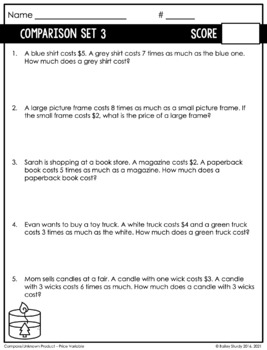 One Step Multiplication and Division Word Problem Intervention (RTI)