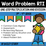One Step Word Problem Intervention (RTI) for Multiplicatio