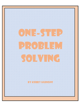 One-Step Problem Solving