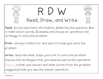 One Step Problem Solving with Read, Draw, and Write