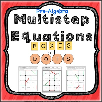 One Step, Two Step, and Variables on Both Sides Review Activity Pre-Algebra Game