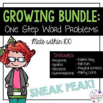 One Step Word Problem Mat Sneak Peak! Within 100