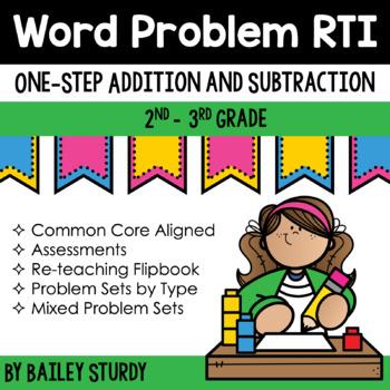 One Step Word Problem RTI
