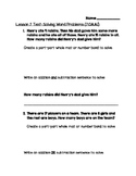 One Step Word Problem Test