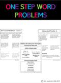 Math Unit - First Grade - One Step Word Problems - 2.0A.A.1