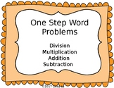 One Step Word Problems