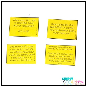 One Step Word Problems All Operations