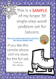 One-Step Word Problems January Free Sample