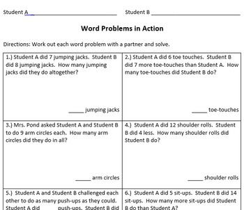One Step Word Problems in Action