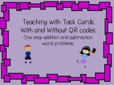One Step Word Problems with Missing addends, subtrahends,