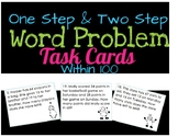 One Step and Two Step Addition/Subtraction Word Problem Task Cards - Within 100