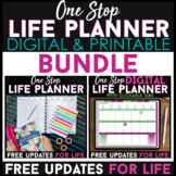 One Stop LIFE Planner BUNDLE | Printable & Digital | FREE