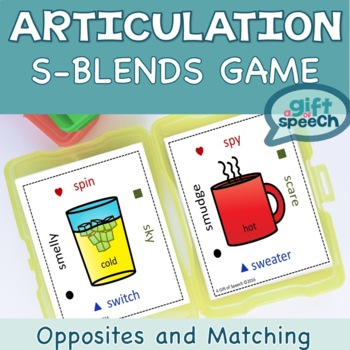 One Stop S-blends Articulation and Opposites Speech Therapy