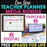 One Stop Teacher Planner BUNDLE | Printable & Digital | FREE Updates | 2021-2022