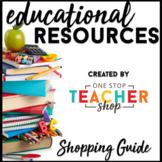 One Stop Teacher Shop Shopping Guide