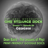 One Strange Rock: 4. Genesis - Video Question Set