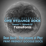 One Strange Rock: 7. Terraform - Video Question Set