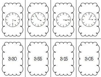 One Stuffed Turkey Card Game: Reading An Analog Clock