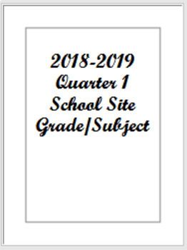 One Subject Lesson Planner 2018-2019