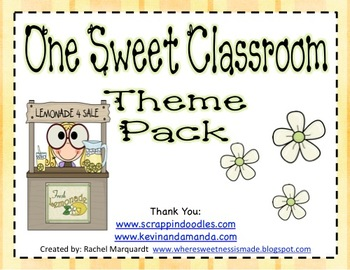 One Sweet Classroom Theme Pack