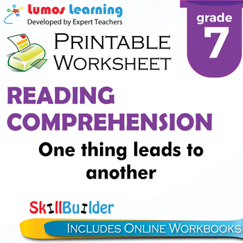 One Thing Leads to Another Printable Worksheet, Grade 7