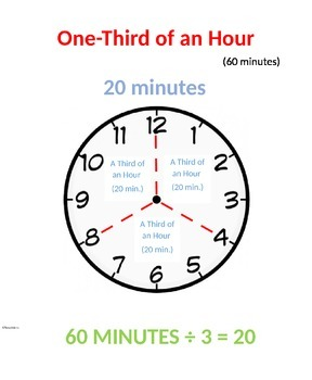 One Third of an Hour - Visual Poster