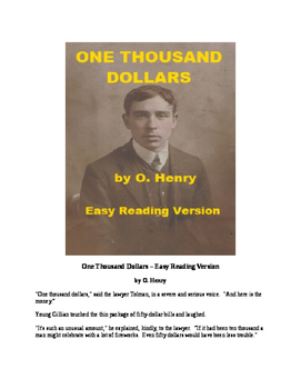 One Thousand Dollars - O. Henry Short Story with Mp3 and  Review Quiz