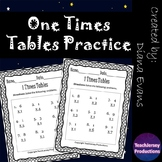 One Times Tables Practice