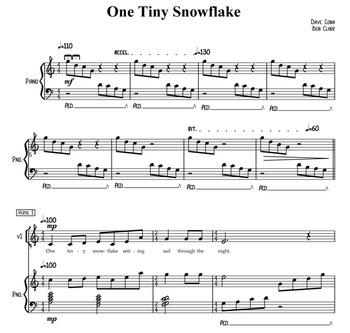 One Tiny Snowflake w/ accompaniment