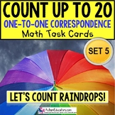 "One To One Correspondence RAINDROPS Counting To 20 TASK CARDS ""TASK BOX FILLER"""