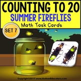 "One To One Correspondence To 20 TASK CARDS - Summer FIREFLIES ""Task Box Filler"""