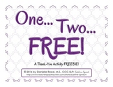 One... Two... FREE! A Thank-You Freebie Activity!