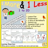 One More One Less Numbers Worksheet Activities