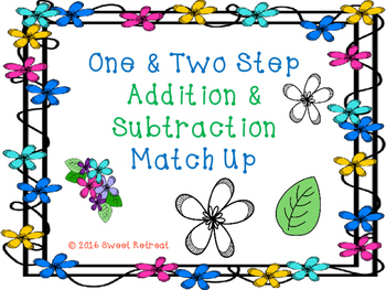 One & Two Step Addition & Subtraction Matching