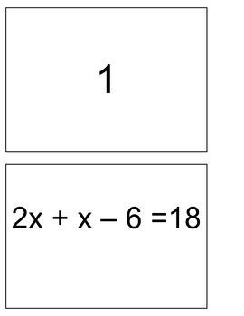 One + Two Step Equation Practice Blackout Activity