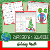 Holiday Math - One, Two-Step and Multi-Step Equation Worksheets