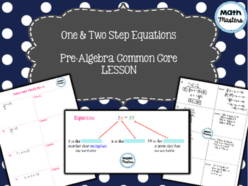 One & Two Step Equations Lesson 1 of 2