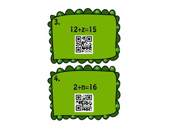 One/Two Step  Equations QR Codes