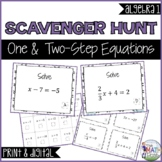 One & Two-Step Equations Scavenger Hunt