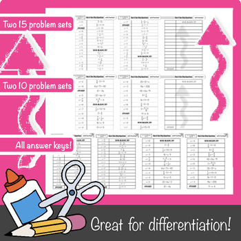 $1 FLASH SALE! One & Two-Step Equations w/Fractions Mix-Up!