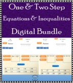 One & Two Step Equations with Inequalities and line graph