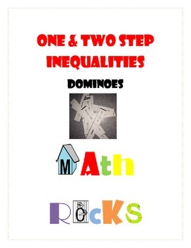 One & Two Step Inequalities Dominoes