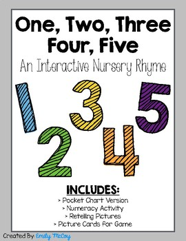 One, Two, Three, Four, Five-Interactive Nursery Rhyme