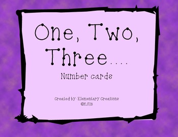 One, Two, Three Number Cards